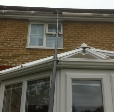 Gutter clearance from Whitbreads Window Cleaning Services Farnborough window cleaner Farnham