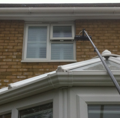 Gutter clearance from Whitbreads Window Cleaning Services Fleet window cleaner Camberley