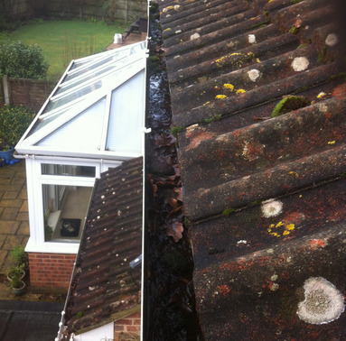 Gutter clearance from Whitbreads Window Cleaning Services Farnham window cleaner Camberley