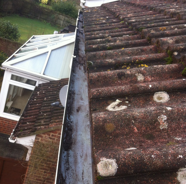 Gutter clearance from Whitbreads Window Cleaning Services Farnham window cleaner Farnborough